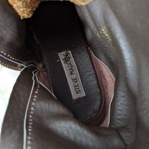 Steve Madden Shoes - Steve Madden Brown Leather Troopa Moto Combat Boot